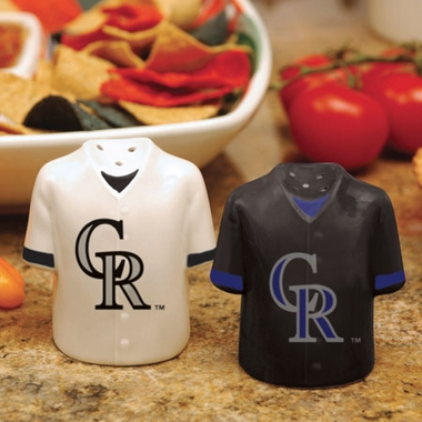 Colorado Rockies Ceramic Jersey Salt and Pepper Shakers