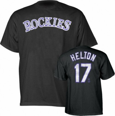 Colorado Rockies Todd Helton Name and Number T-Shirt