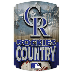 "Colorado Rockies Country 11""x17"" Wood Sign"