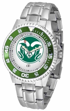 Colorado State Competitor Steel Band Mens Watch