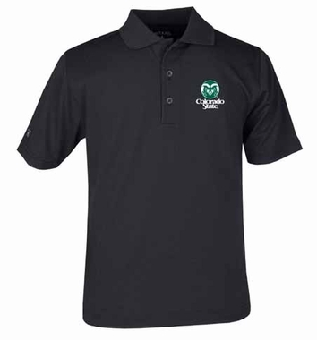 Colorado State YOUTH Unisex Pique Polo Shirt (Color: Black)