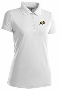 Colorado Womens Pique Xtra Lite Polo Shirt (Color: White) - Small