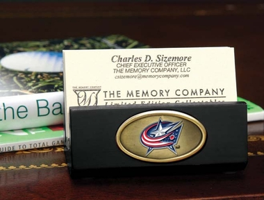 Columbus Blue Jackets Business Card Holder (Black)
