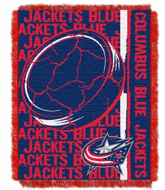 Columbus Blue Jackets Jacquard Woven Throw Blanket