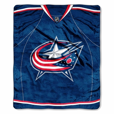 Columbus Blue Jackets Plush Blanket