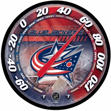 Columbus Blue Jackets Round Wall Thermometer