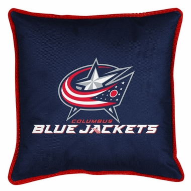 Columbus Blue Jackets SIDELINES Jersey Material Toss Pillow