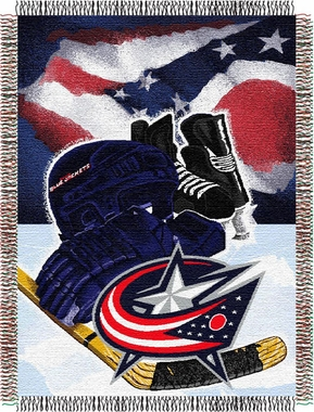 Columbus Blue Jackets Woven Tapestry Blanket