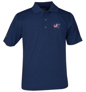 Columbus Blue Jackets YOUTH Unisex Pique Polo Shirt (Color: Navy) - X-Small