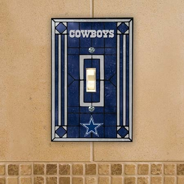 Dallas Cowboys Art Glass Lightswitch Cover