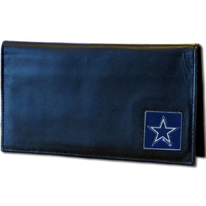 Dallas Cowboys Black Leather Checkbook Cover (F)