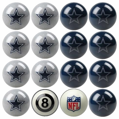 Dallas Cowboys Home and Away Complete Billiard Ball Set