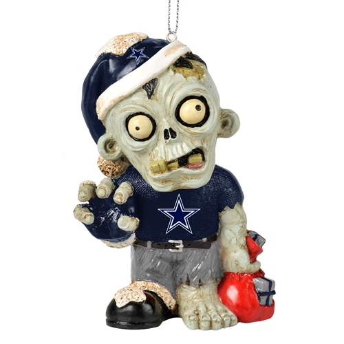 dallas cowboys nfl resin zombie christmas ornament