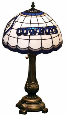 Dallas Cowboys Stained Glass Table Lamp