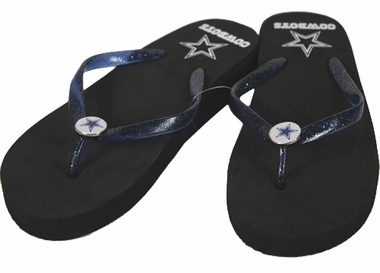 Dallas Cowboys Wedge Flip Flops