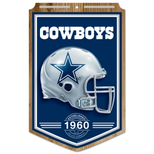 "Dallas Cowboys Wood Sign - 11""x17"" Established Design"