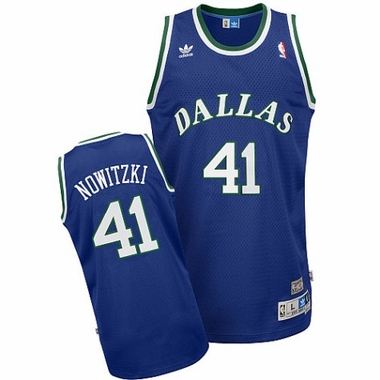 Dallas Mavericks Dirk Nowitzki Adidas Team Color Throwback Replica Premiere Jersey