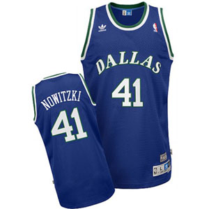 Dallas Mavericks Dirk Nowitzki Adidas Team Color Throwback Replica Premiere Jersey - Medium