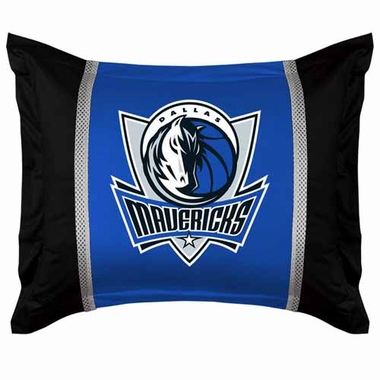 Dallas Mavericks SIDELINES Jersey Material Pillow Sham