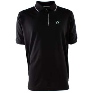 Dallas Stars Mens Elite Polo Shirt (Color: Black) - Medium