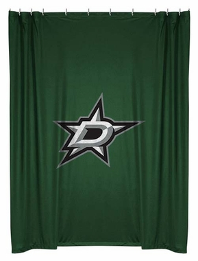 Dallas Stars Jersey Material Shower Curtain