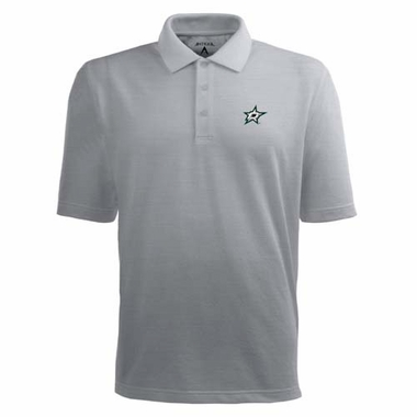 Dallas Stars Mens Pique Xtra Lite Polo Shirt (Color: Gray)