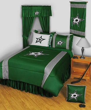 Dallas Stars SIDELINES Jersey Material Comforter