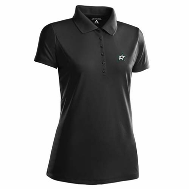Dallas Stars Womens Pique Xtra Lite Polo Shirt (Color: Black)