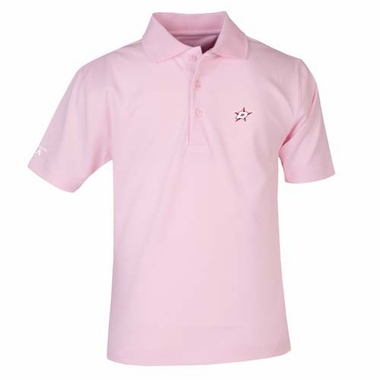 Dallas Stars YOUTH Unisex Pique Polo Shirt (Color: Pink)