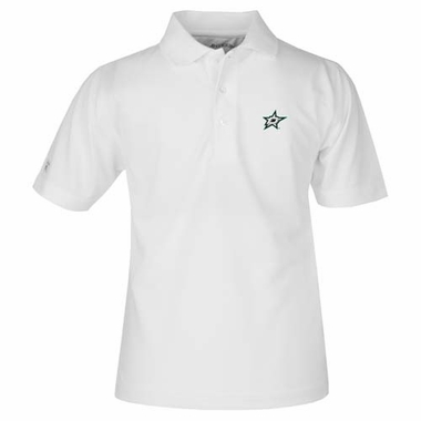 Dallas Stars YOUTH Unisex Pique Polo Shirt (Color: White)