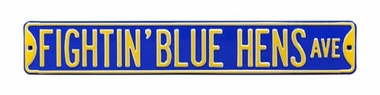 Delaware Fightin' Blue Hens Ave Street Sign