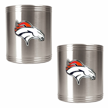 Denver Broncos 2 Can Holder Set
