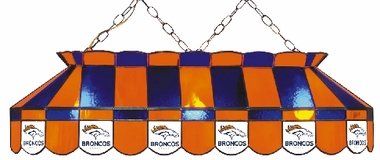 Denver Broncos 40 Inch Rectangular Stained Glass Billiard Light