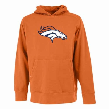 Denver Broncos Big Logo Mens Signature Hooded Sweatshirt (Color: Orange)
