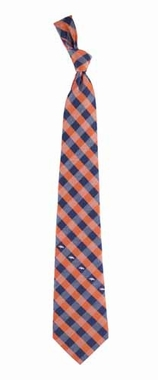 Denver Broncos Check Poly Necktie
