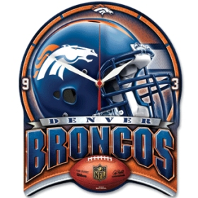 Denver Broncos High Definition Wall Clock