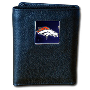 Denver Broncos Leather Trifold Wallet (F)