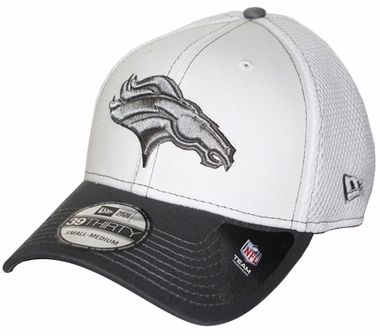 Denver Broncos New Era 39THIRTY Blitz Neo Fitted Hat - Gray