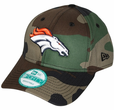 Denver Broncos New Era 9Forty NFL Basic Camouflage Adjustable Hat
