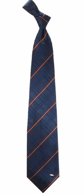 Denver Broncos Oxford Stripe Woven Silk Necktie