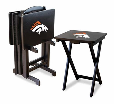 Denver Broncos Set of 4 Folding TV Trays