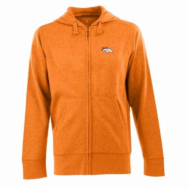 Denver Broncos Mens Signature Full Zip Hooded Sweatshirt (Color: Orange)