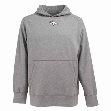 Denver Broncos Mens Signature Hooded Sweatshirt (Color: Gray)