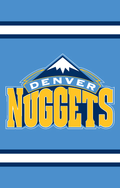 Denver Nuggets Applique Banner Flag