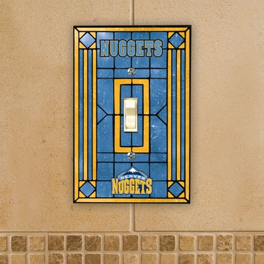 Denver Nuggets Art Glass Lightswitch Cover