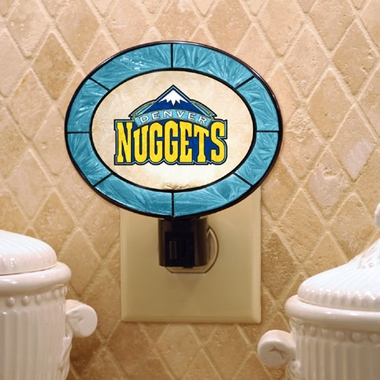 Denver Nuggets Art Glass Night Light