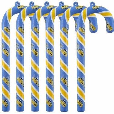 Denver Nuggets Set of 6 Candy Cane Ornaments