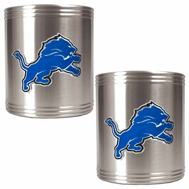 Detroit Lions 2 Can Holder Set