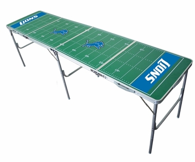 Detroit Lions 2x8 Tailgate Table