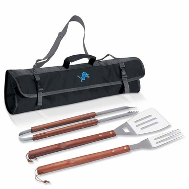 Detroit Lions 3-pc BBQ Tote (Black)